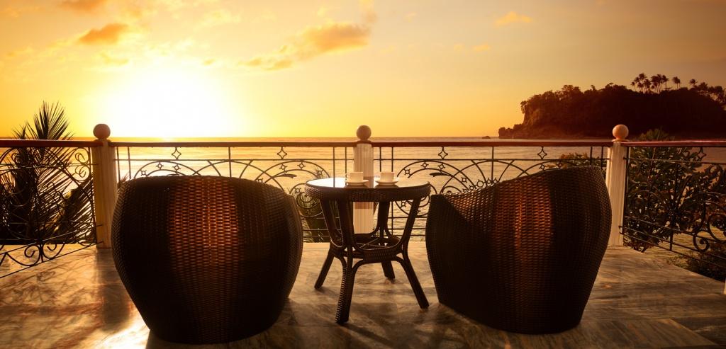 Мадейра, вид с террасы на океан